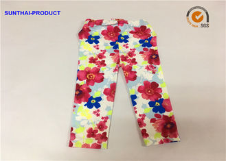 Super Soft Baby Girl Floral Leggings Flower Print For Fall / Winter Sample Approval
