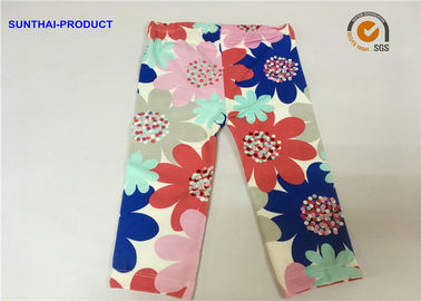 China Large Floral Printed Cute Baby Girl Leggings Color Customized For Infant supplier