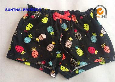China Reactive Print Ruffle Waistband Baby Girl Cotton Shorts Color Customized supplier