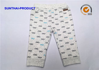 China Reversible Baby Jogging Bottoms Logo Customized Modal Printed Baby Boy Cotton Pants supplier