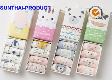 China Customized Baby Boy Cotton Socks , Anti Static Knitted Newborn Baby Boy Socks supplier
