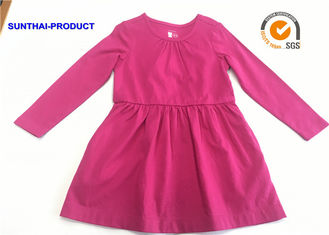 China Comfortable Plain Baby Clothes Azalea Color Toddler Short Sleeve Dress supplier