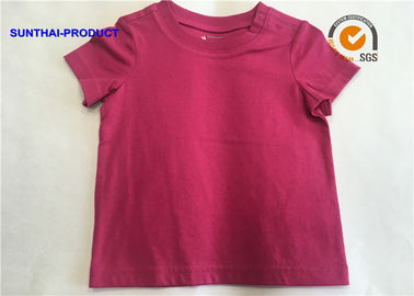 Cotton Single Jersey Plain Baby Clothes Short Sleeve Crew Neck Baby Knit Top