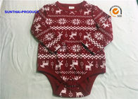 Holiday Newborn Baby Bodysuits AOP Print Baby Boy Long Sleeve Romper For Fall / Winter