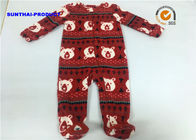 China Bear AOP Baby Pram Suit 100% Polyester Micro Fleece Front Zipper Toe Embroidery Coverall factory