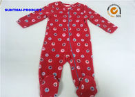 China Smiley Face AOP Baby Fleece Coverall , 100% Polyester Newborn Girl Pram Suit factory