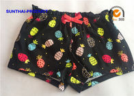 Reactive Print Ruffle Waistband Baby Girl Cotton Shorts Color Customized