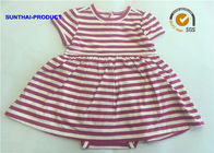 Short Sleeve Newborn Baby Girl Dresses , 100% Cotton  Baby Girl Striped Dress