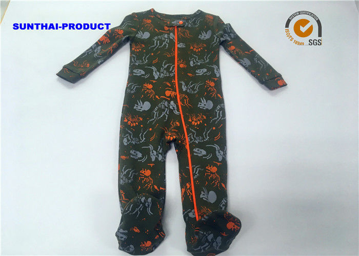 0e7c9ccb0 100% Cotton Baby Pram Suit Dinosaur Long Sleeve Zipper Closure Coverall