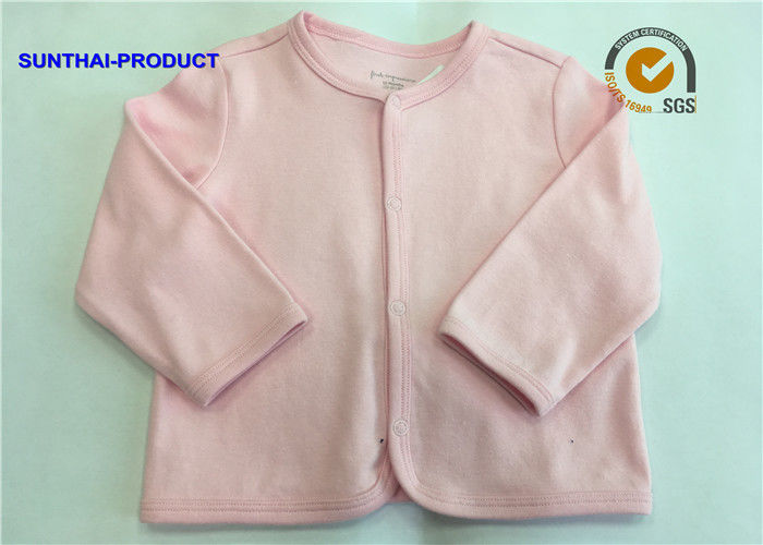 94c022fc2aed Long Sleeve Plain Baby Clothes Round Neck Newborn Baby Girl Cardigans