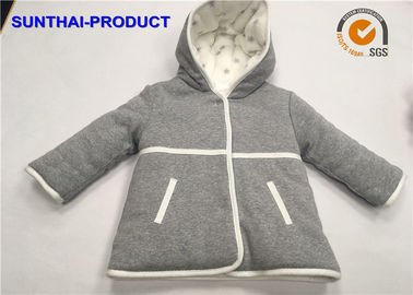 2 Layers Baby Kids Hooded Jacket Long Sleeve Micro fleece Inside For Lining