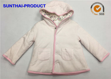 Trendy Toddler Hooded Jacket , 100% Polyester 3 Layers Baby Girl Hooded Jacket