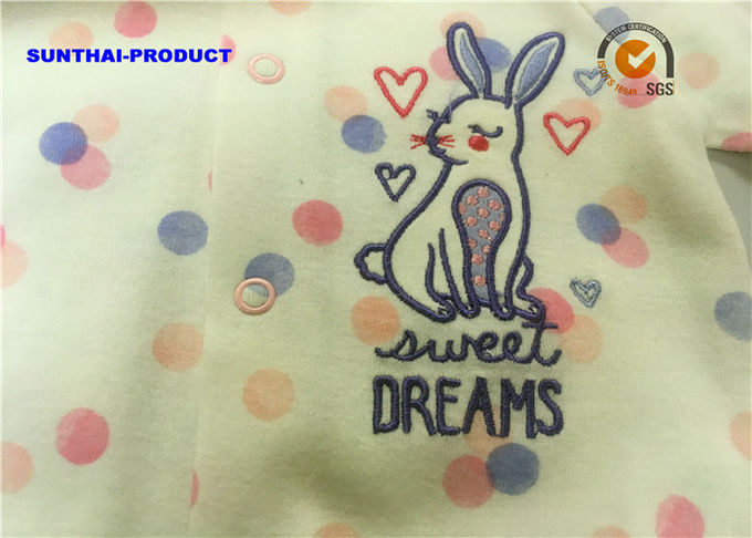 7a3d226a8e13 Rabbit Applique Newborn Baby Coverall