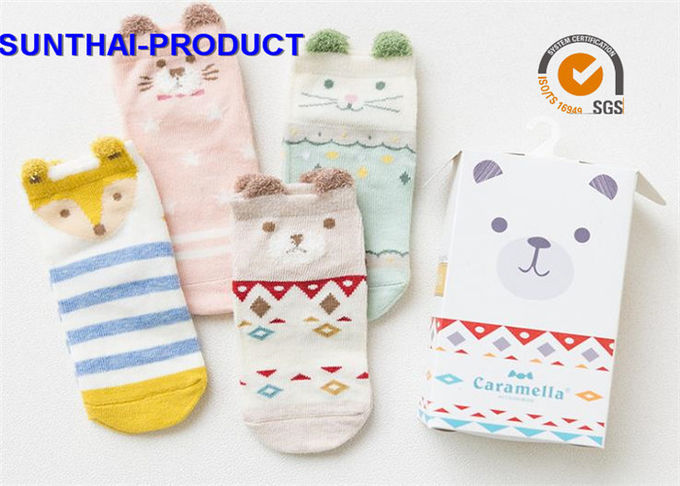 100% Cotton Baby Clothes Gift Set Color Customized Anti Pilling Unisex Baby Socks